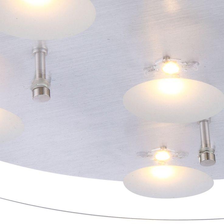 Plafonnier DEL 30 W luminaire plafond lampe salle de séjour plateau verre clair – Bild 4