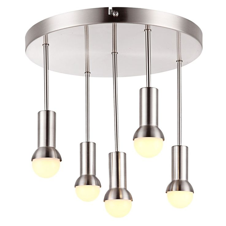 Elegante LED Deckenleuchte in nickel matt, chrom KIMBERLY – Bild 1