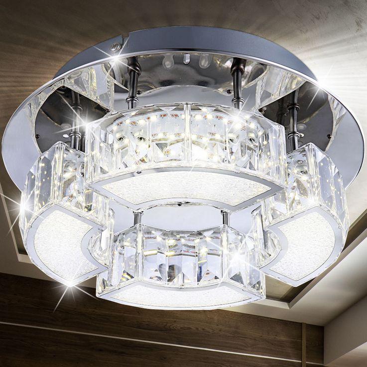 Design LED Deckenlampe in Chrom SILURUS – Bild 2