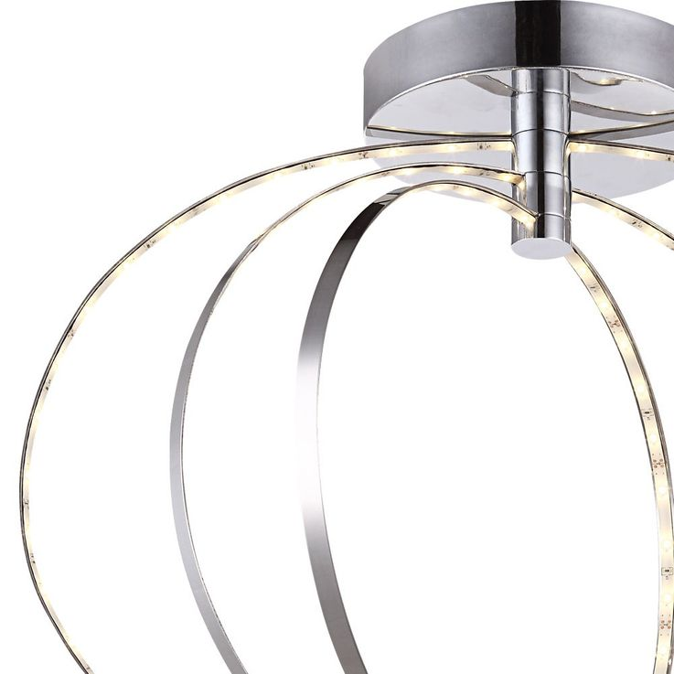 Moderne LED Deckenleuchte in Chrom für Ihren Wohnraum BAGUE – Bild 6