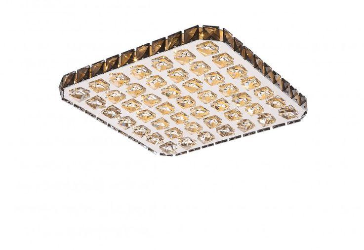 Praktische LED Deckenlampe in chrom mit klaren Kristallen – Bild 1