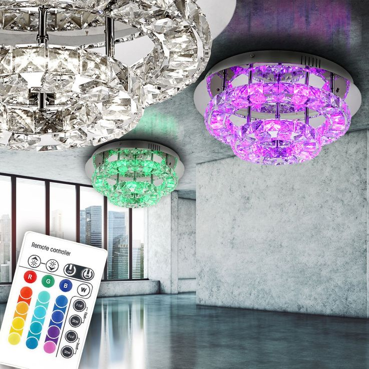 Praktische LED Deckenlampe in chrom CALISA – Bild 2