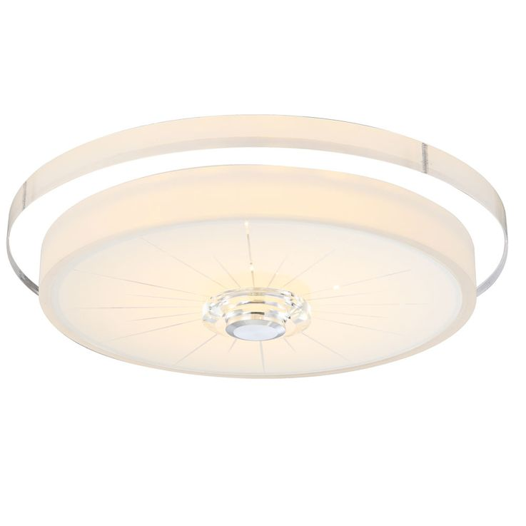 LED ceiling light made of glass with a clear pattern – Bild 1