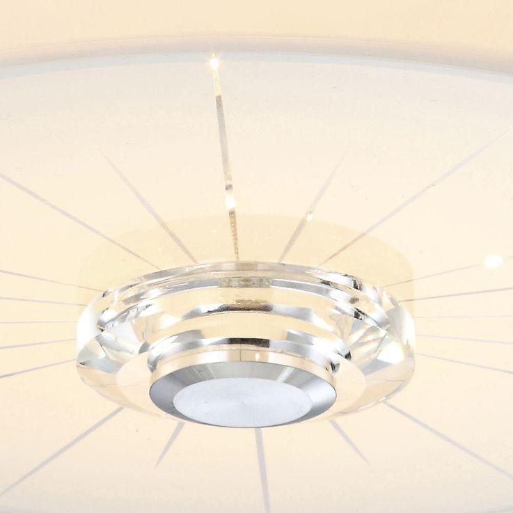 LED ceiling light made of glass with a clear pattern – Bild 3