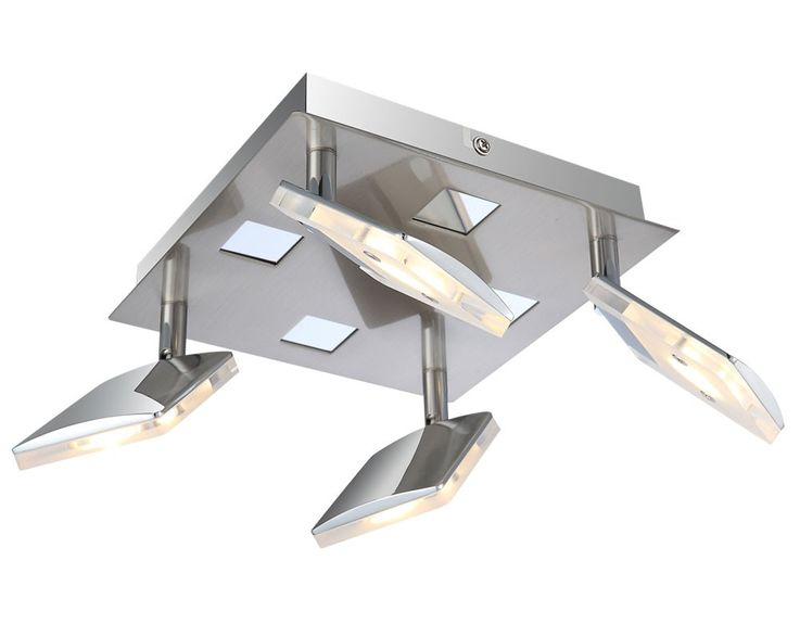 Plafonnier DEL 24 watt lampe 4 spots mobiles éclairage luminaire plafond couloir – Bild 1