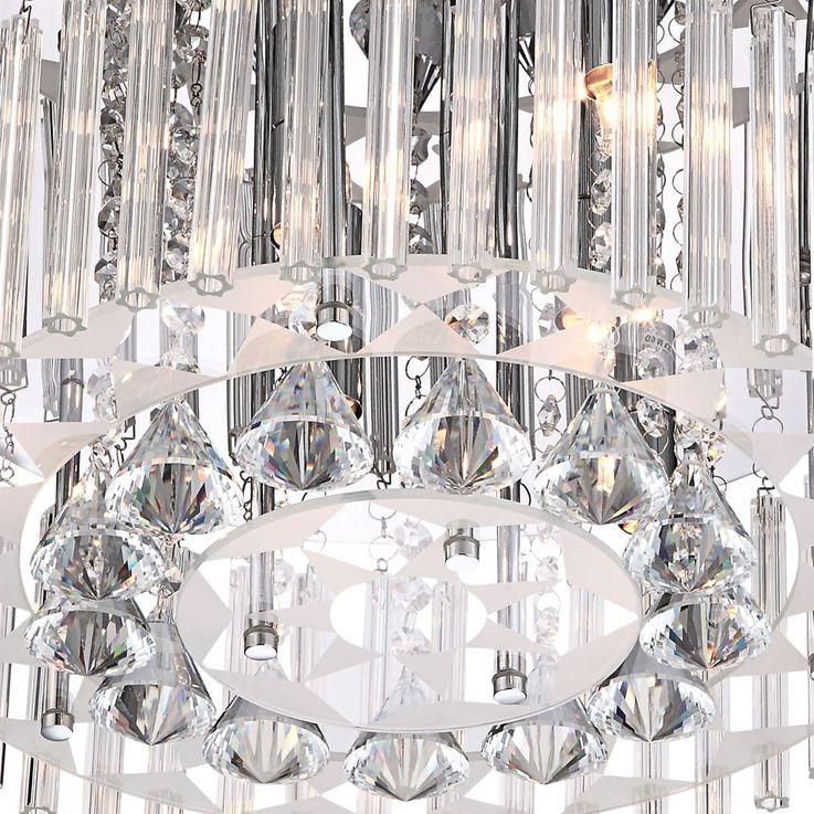 Elegante Deckenleuchte mit klarem Glasbehang BANDU – Bild 4