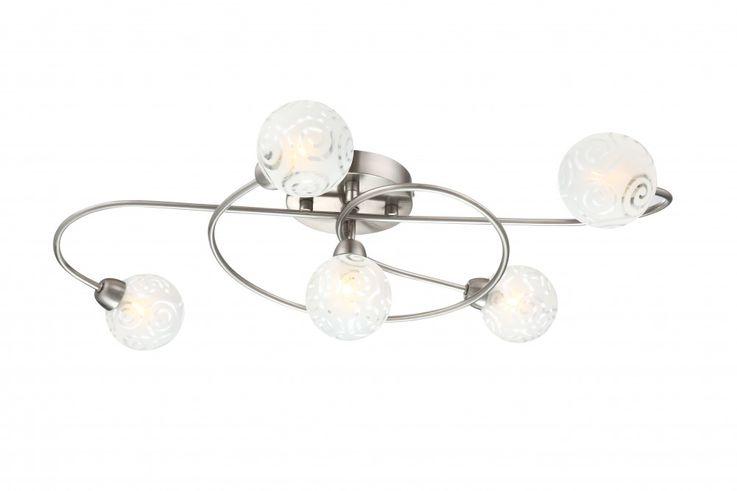 Zeitlose  Deckenlampe in nickel matt ORLENE – Bild 1