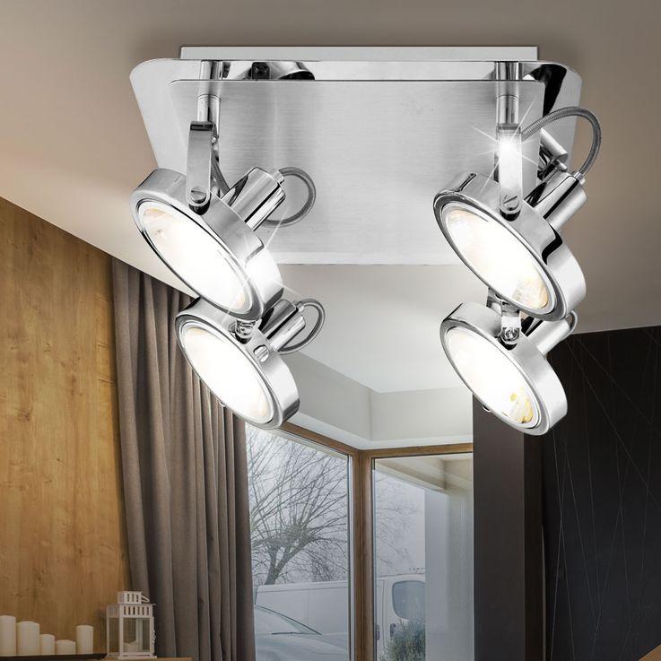 Éclairage plafonnier spots luminaire plafond lampe 4 spots mobiles couloir – Bild 3