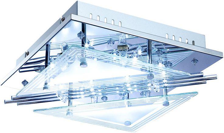 Lampe de plafond LED RGB tiges de verre salon spot lumière chromée REMOTE CONTROL  Globo 68246-4 – Bild 6