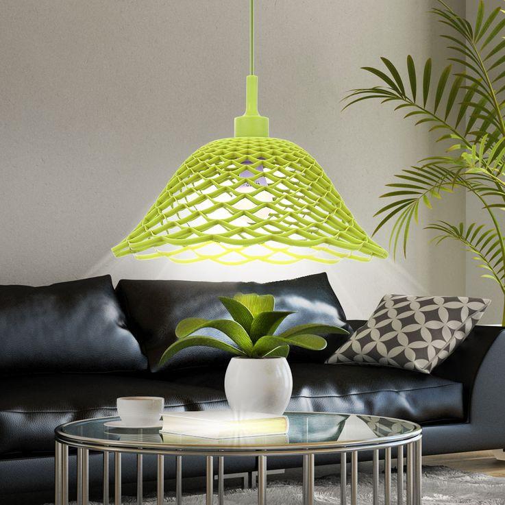 Plafonnier suspendu lampe de salle à manger pendule tresse éclairage rond motif vert  Globo 15137 – Bild 2