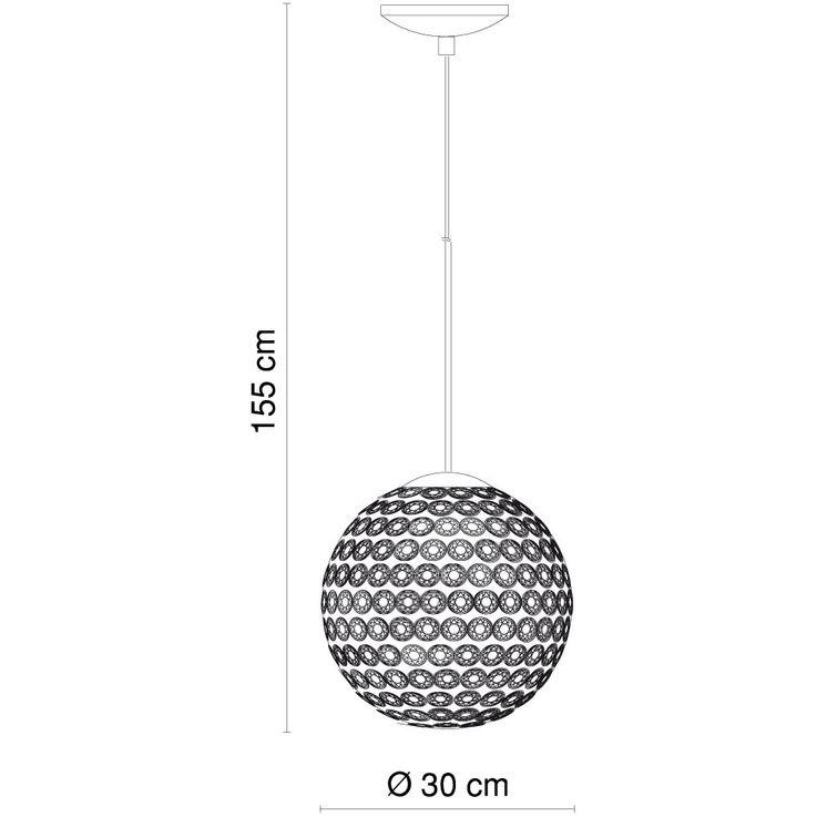 Design pendant lamp crystal ball hanging lighting ceiling lamp Globo 16004 – Bild 6