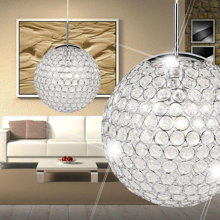 Design Pendel Leuchte Kristall Kugel Hänge Beleuchtung Decken Lampe Globo 16004 – Bild 5