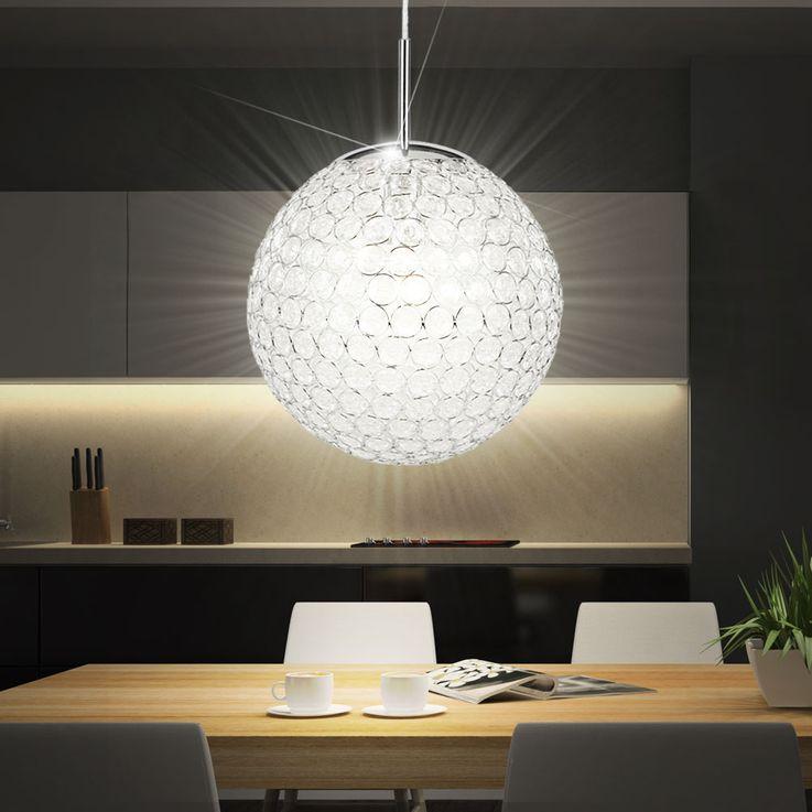 Design Pendel Leuchte Kristall Kugel Hänge Beleuchtung Decken Lampe Globo 16004 – Bild 3