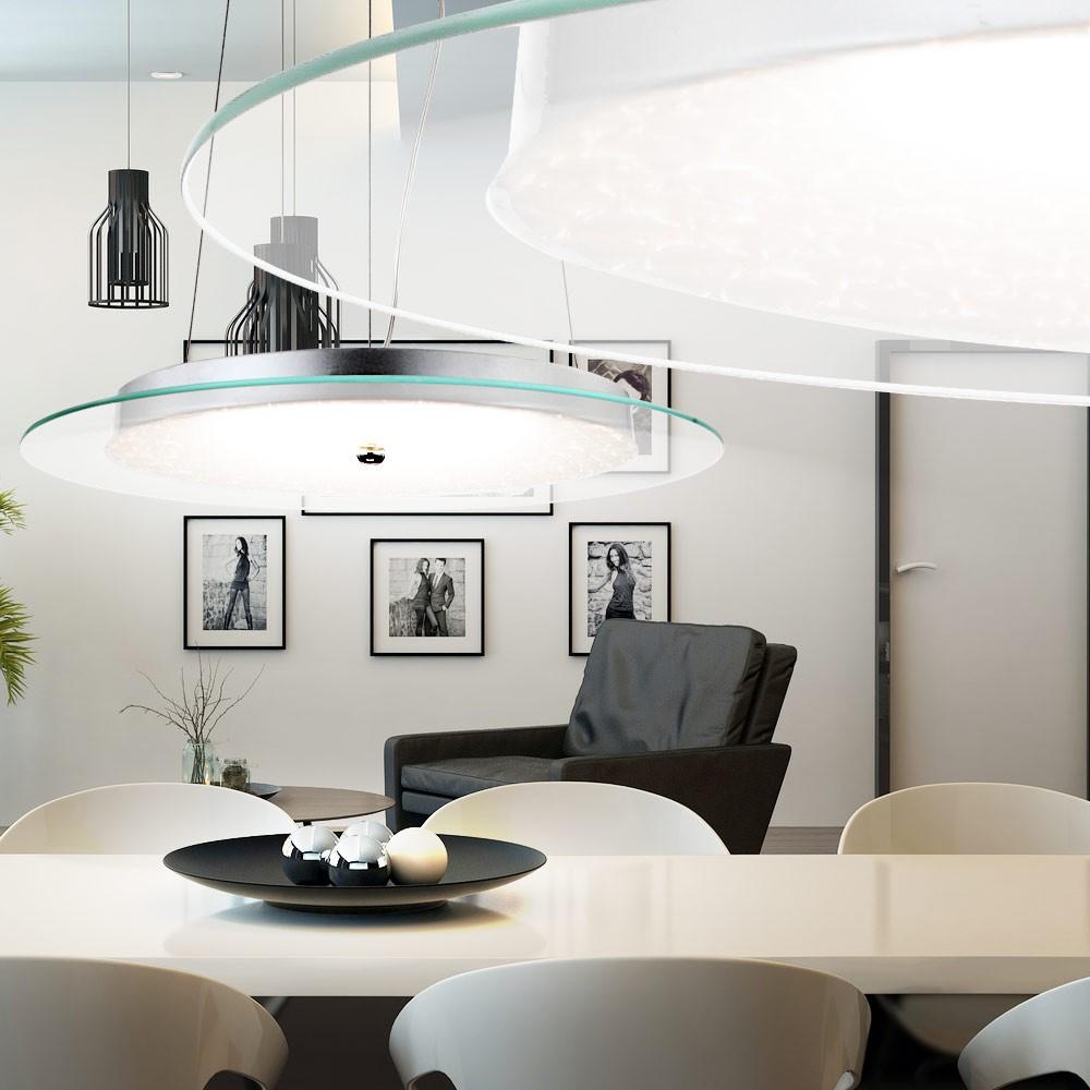 moderne led h ngeleuchte in chrom christian lampen m bel. Black Bedroom Furniture Sets. Home Design Ideas
