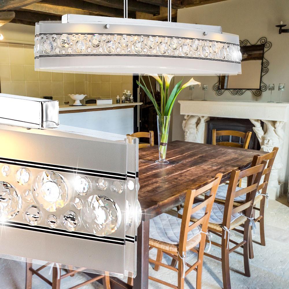 Hochwertige Pendel Lampe LED Küchen Hänge Leuchte Kristall