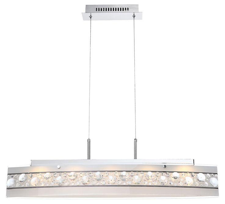 18 Watt LED Hänge Leuchte Kristall Decken Beleuchtung Pendel Lampe Globo 48175-18H – Bild 4
