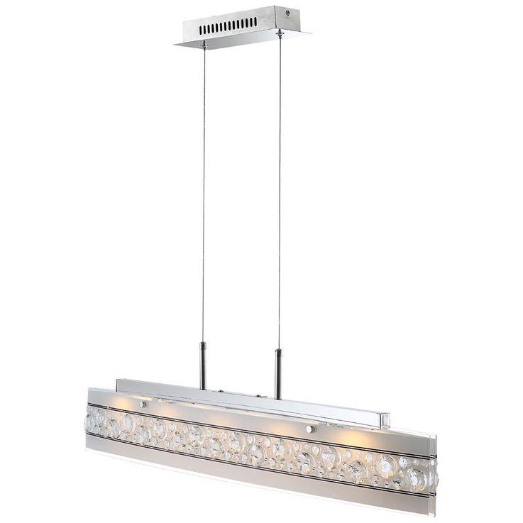 18 Watt LED Hänge Leuchte Kristall Decken Beleuchtung Pendel Lampe Globo 48175-18H – Bild 5