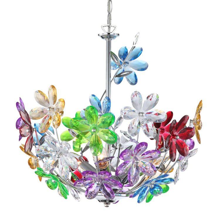Design plafonnier lampe pendule fleurs florales lampe suspendue projecteurs coloré Globo 51530-3H – Bild 5