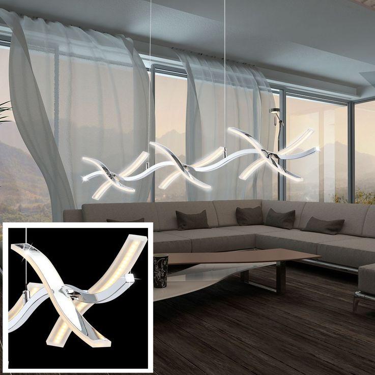 Luxus LED Hängeleuchte für Ihren Flur aus Chrom und Glas WINDI – Bild 3