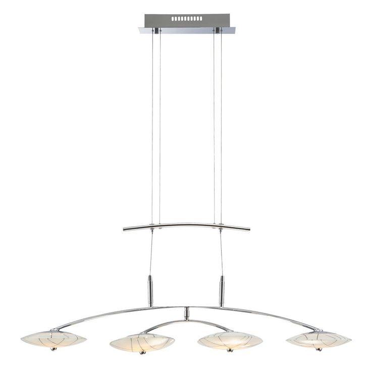 20 Watt LED Hänge Leuchte Glas Muster Pendel Lampe verstellbar Globo 68026-4 – Bild 1