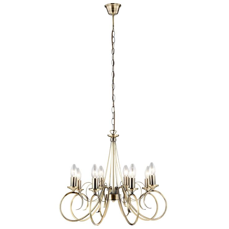 High quality chandelier antique brass pendant pendulum lamp chandelier ceiling lamp  Globo 69003-8 – Bild 1