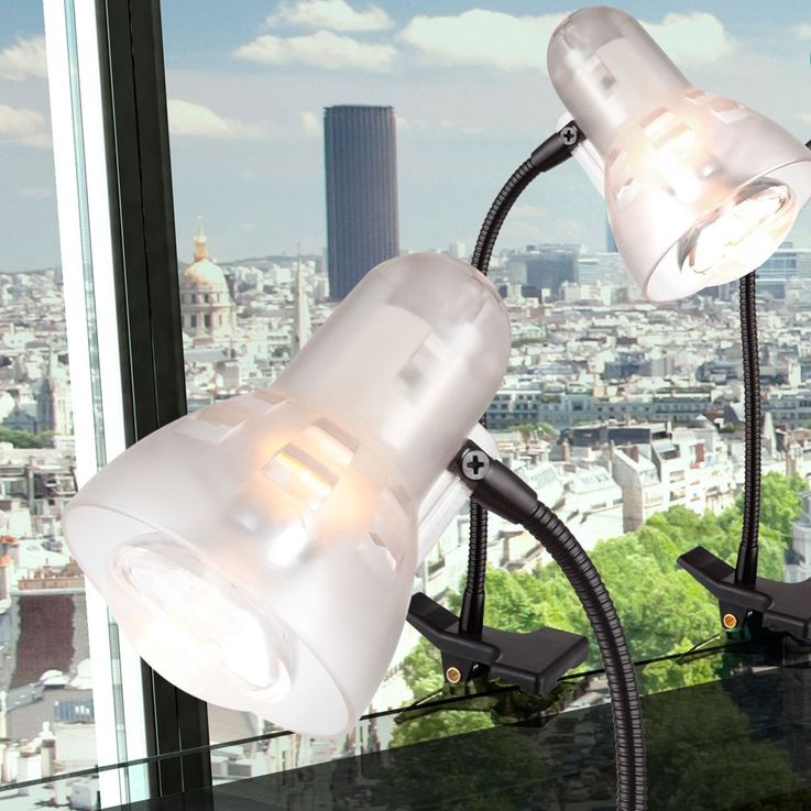 Transparent clip lamp table lamp metal lighting Globo 54850 – Bild 2