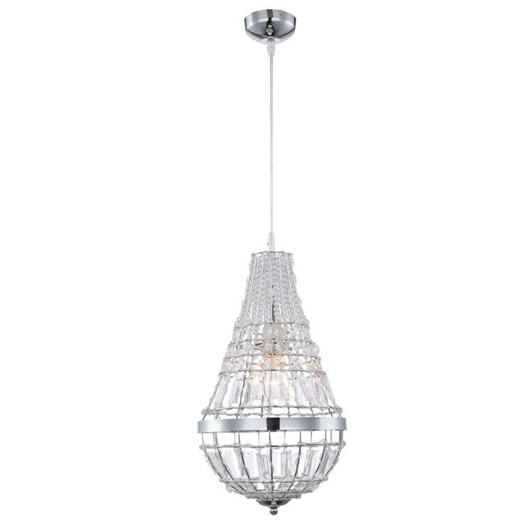 Luxus Pendel Leuchte Kristall Decken Luster Chrom Wohnraum Kronleuchter Globo 16001 – Bild 1