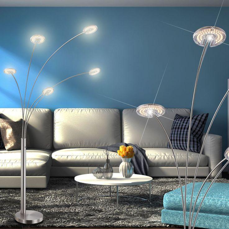 LED Stehleuchte mit fünf gebogenen Leuchtarmen AMARA – Bild 3