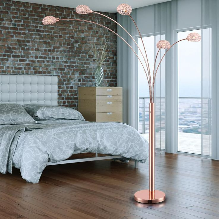 Practical floor lamp metal copper colour, base copper-coloured - Globo NEWCASTLE 58228SCK – Bild 4