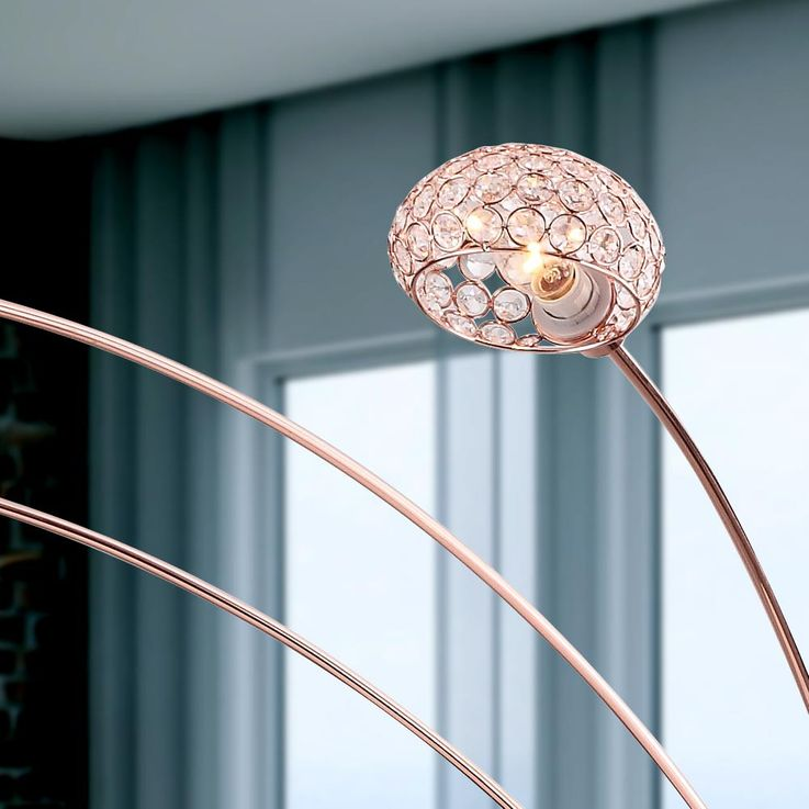 Practical floor lamp metal copper colour, base copper-coloured - Globo NEWCASTLE 58228SCK – Bild 5
