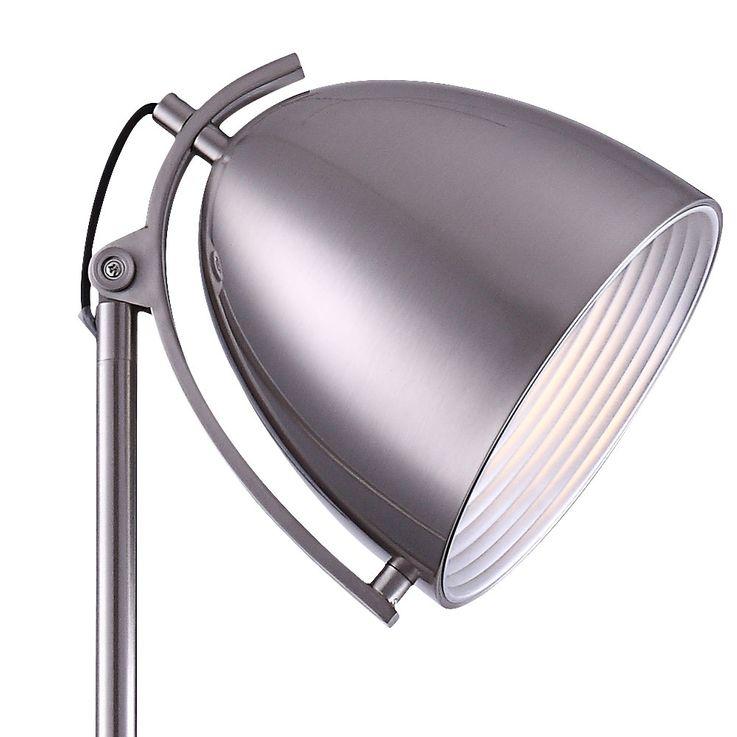 Lampadaire luminaire sur pied nickel mat salle de séjour chambre éclairage interrupteur – Bild 3