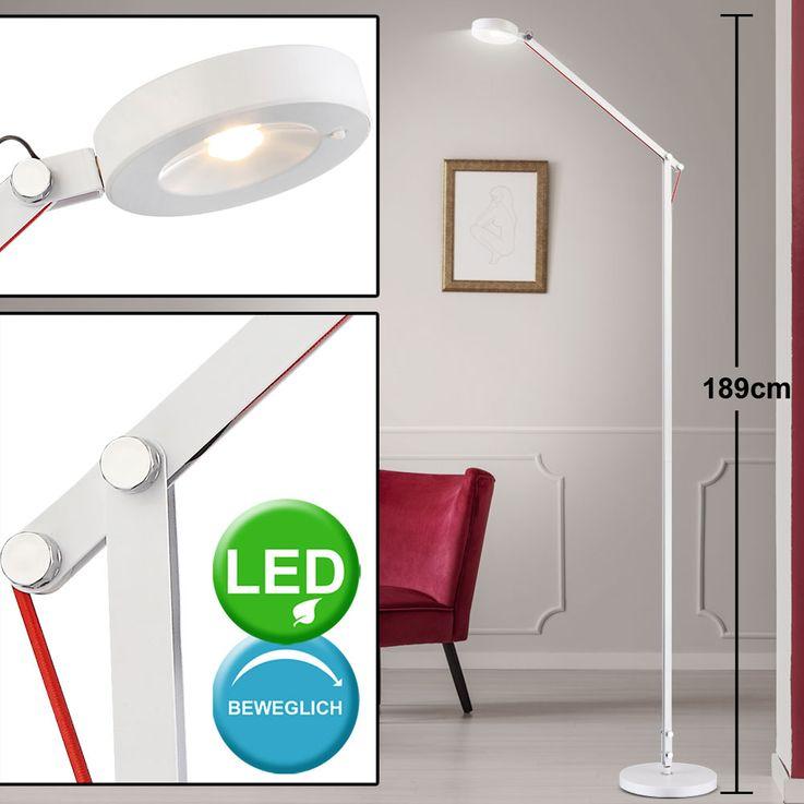 LED Stand lamp Stand Bevel Spotlight Sleep Guest Room Reading Lamp adjustable  Globo 24126S – Bild 2