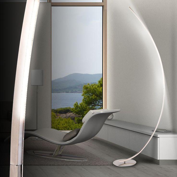 13,5 Watt LED Bogen Steh Leuchte Lese Stand Lampe Büro Beleuchtung Globo 58235S – Bild 3