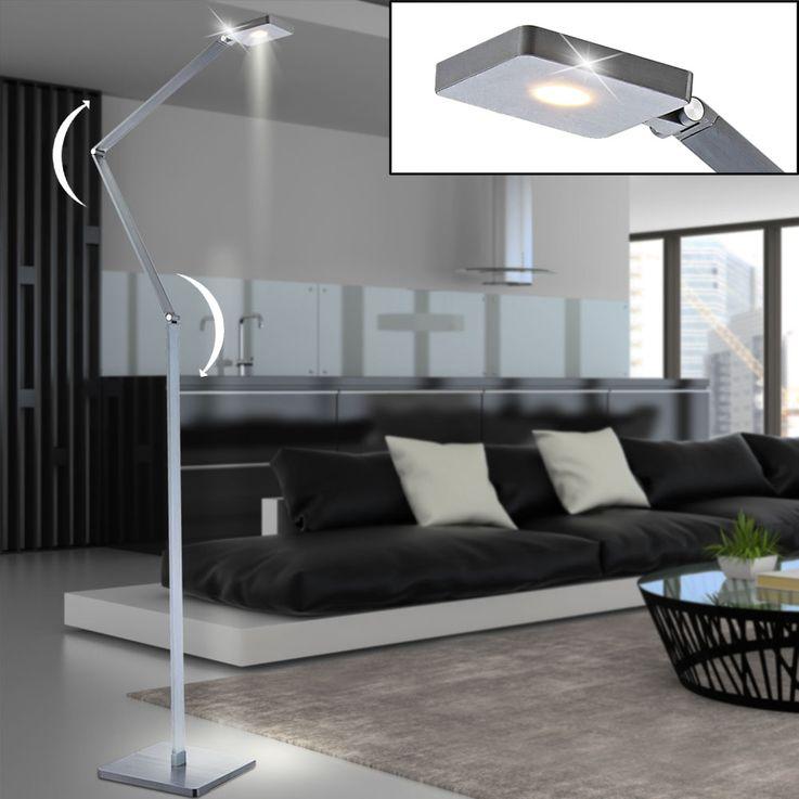 LED Stand Stand Lamp Living Room Touch Dimmer Lighting ALU Reading Lamp Adjustable Globo 58148S – Bild 2