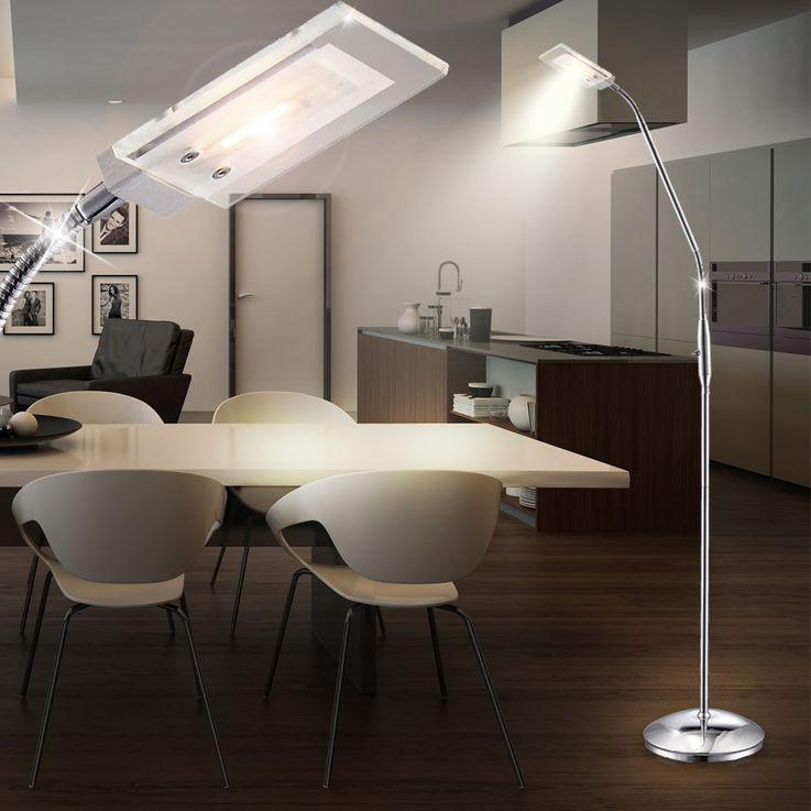 5 Watt LED Steh Lampe Wohnraum Flexo Beleuchtung Stand Lese Leuchte Globo 56204-1S – Bild 4