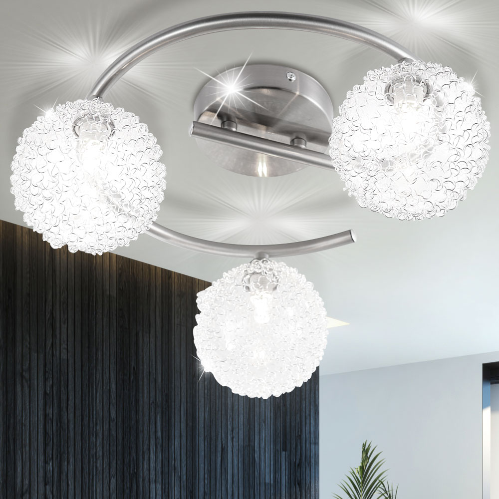 deckenlampe f r ihren flur mit alu glaskugeln enigma lampen m bel r ume wohnzimmer. Black Bedroom Furniture Sets. Home Design Ideas