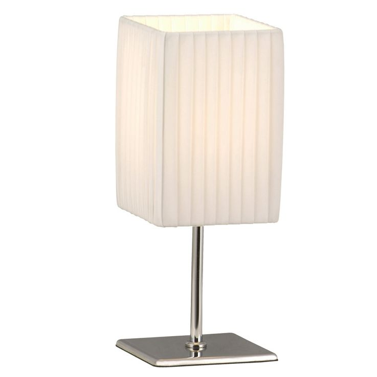 Table lamp chrome lighting textile light white living room switch lighting Globo 24660 – Bild 1