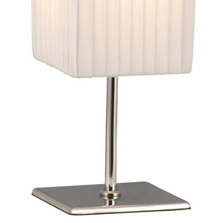 Lampe de table Chrome Eclairage Textile Lampe interrupteur d'éclairage blanc salon Globo 24660 – Bild 5