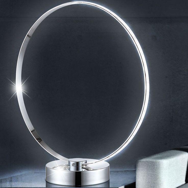 Design LED 12.5 Watt table lamp chrome staircase touch switch Globo AMADEUS 58246 – Bild 4
