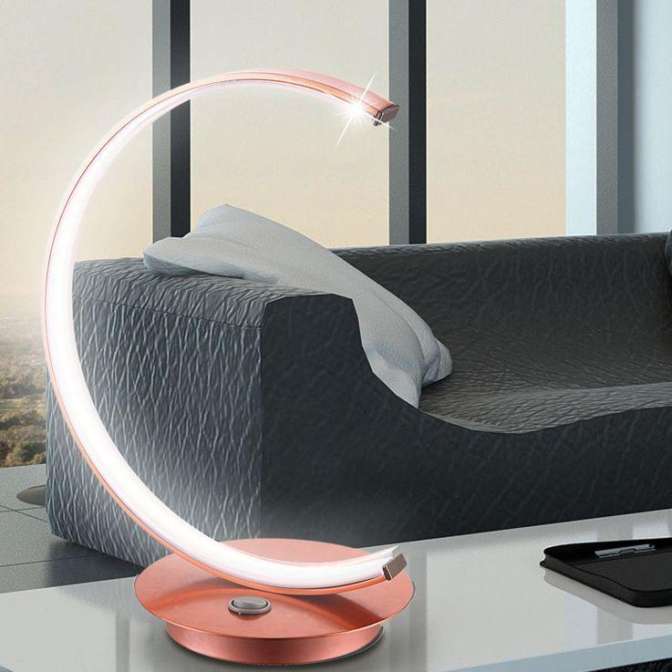 Lampe de table LED cuivre design C pour votre couloir AMADEUS – Bild 2