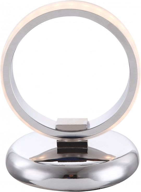 Traditional LED table lamp chrome chrome ring with frosted acrylic ring 5W - Globo IDAHO 56043-1 T – Bild 1