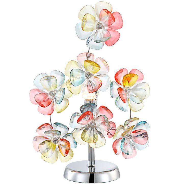 Design Tisch Leuchte Blüten Beistell Lampe Multi Colour Beleuchtung Globo 51539-1T – Bild 1