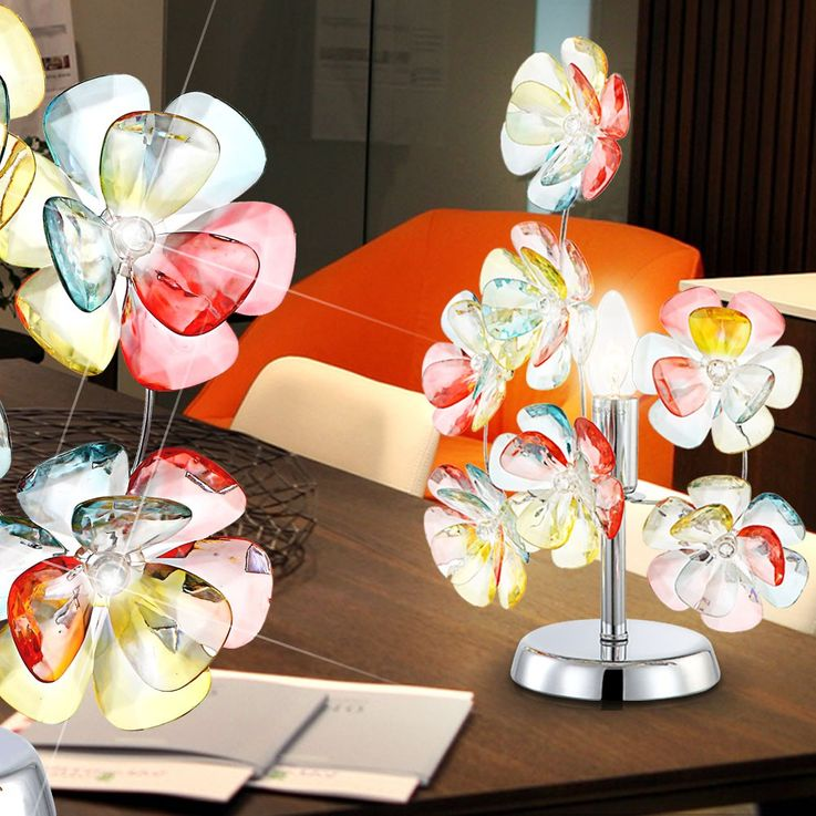 Design table lamp blossoms stand bulb multi colour lighting Globo 51539-1 T – Bild 2