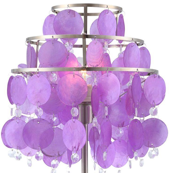 Design table lamp purple nickel switch illumination shell curtain Globo 16101T – Bild 4