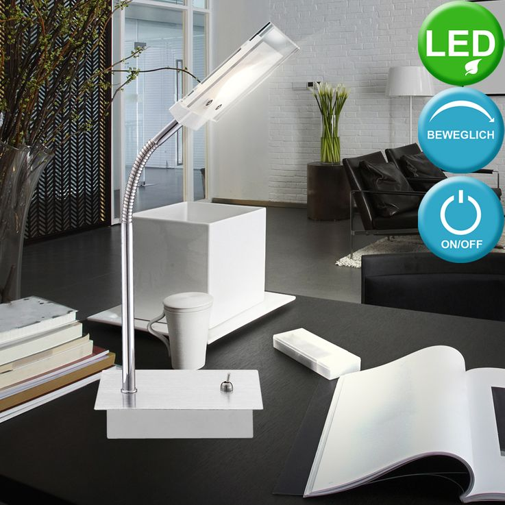 Lampe de table LED 5 watts luminaire verre lecture éclairage bureau chevet DEL – Bild 2