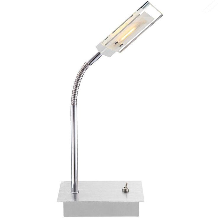 Lampe de table LED 5 watts luminaire verre lecture éclairage bureau chevet DEL – Bild 1