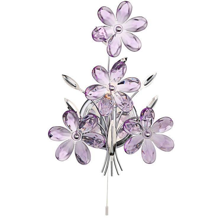 elegante wandleuchte mit zugschalter purple lampen m bel innenleuchten wandbeleuchtung. Black Bedroom Furniture Sets. Home Design Ideas