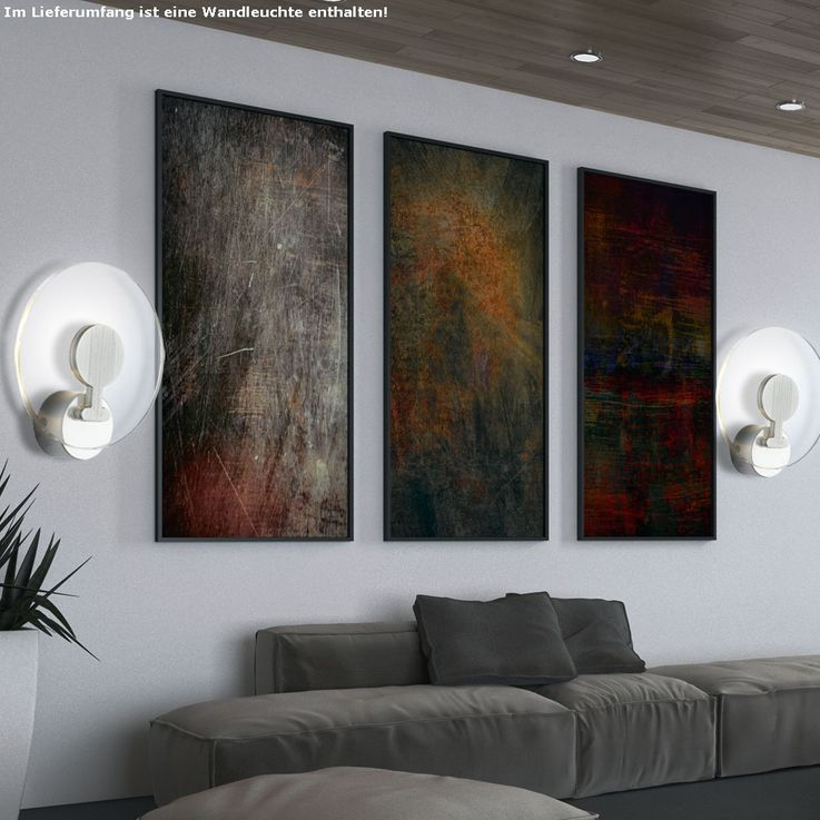 Design LED Wandlampe in Aluminium mit Acryl FANNY – Bild 3