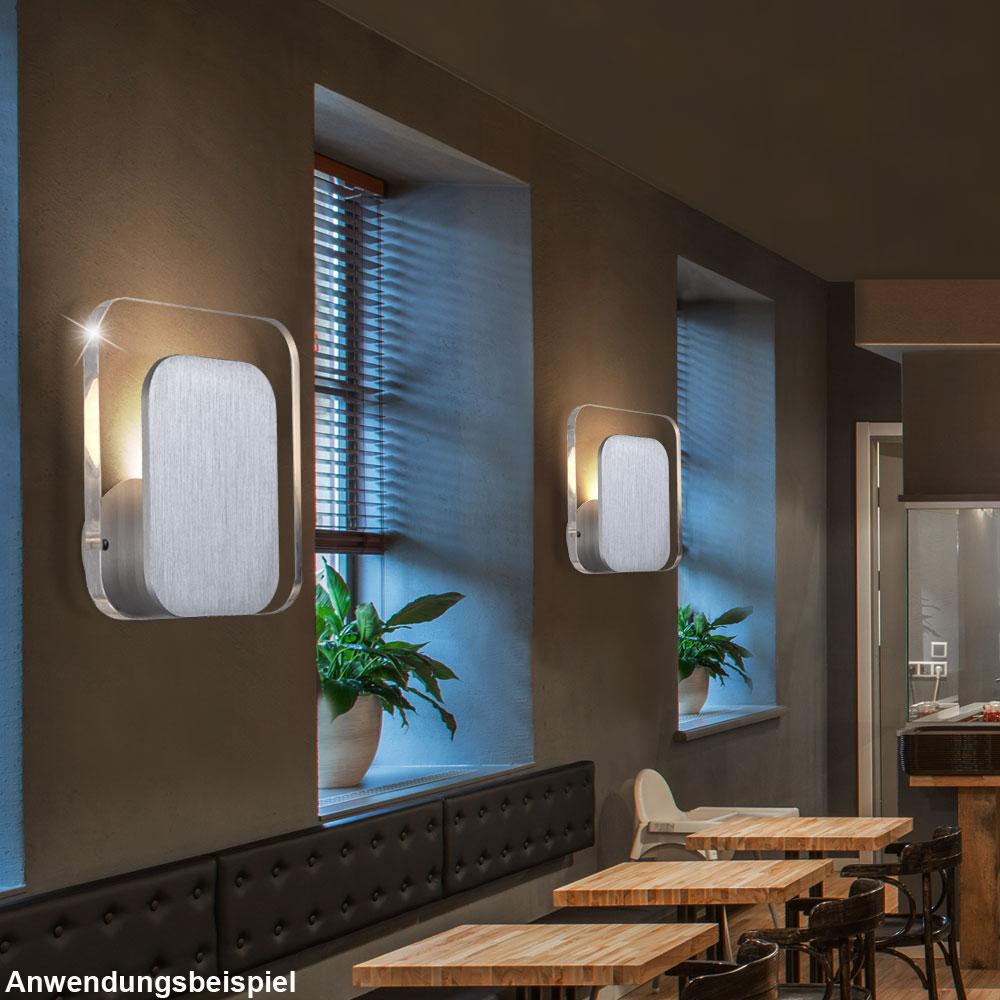 luxus led wand leuchte alu geb rstet lampe treppenhaus beleuchtung energie spar ebay. Black Bedroom Furniture Sets. Home Design Ideas
