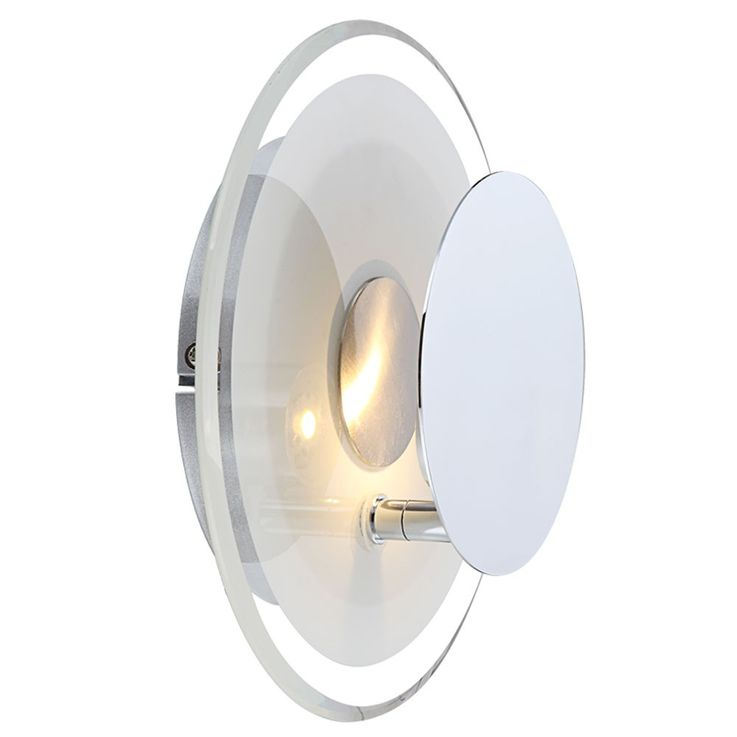 5 Watt LED Wand Leuchte Haus Flur Beleuchtung Glas Lampe rund satiniert Globo 41731 – Bild 1
